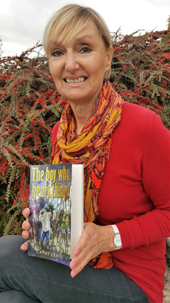 Cathy with her new novel